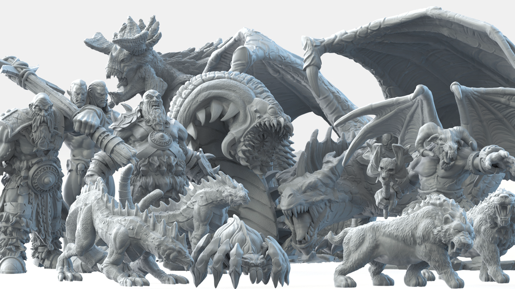 Project image for Bestiary Vol #2 - 3D Printable Models