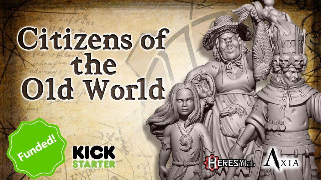 """Citizens of the Old World"" - Resin and STL by HeresyLab project video thumbnail"