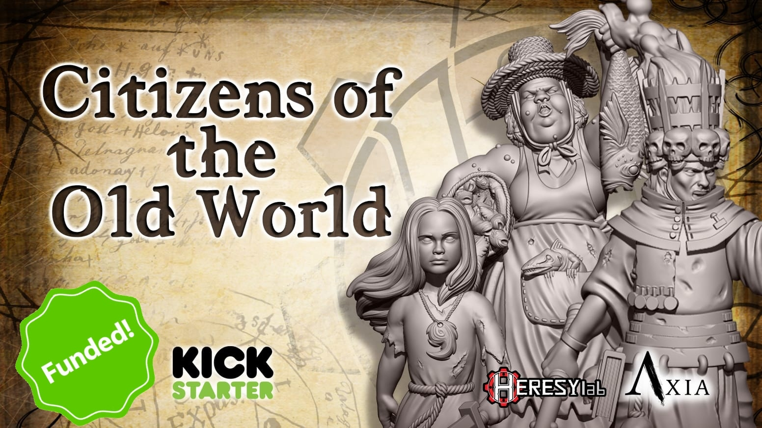 A set of grotesque higly detailed Heroic 28mm resin miniatures. And STL file for 3D printing