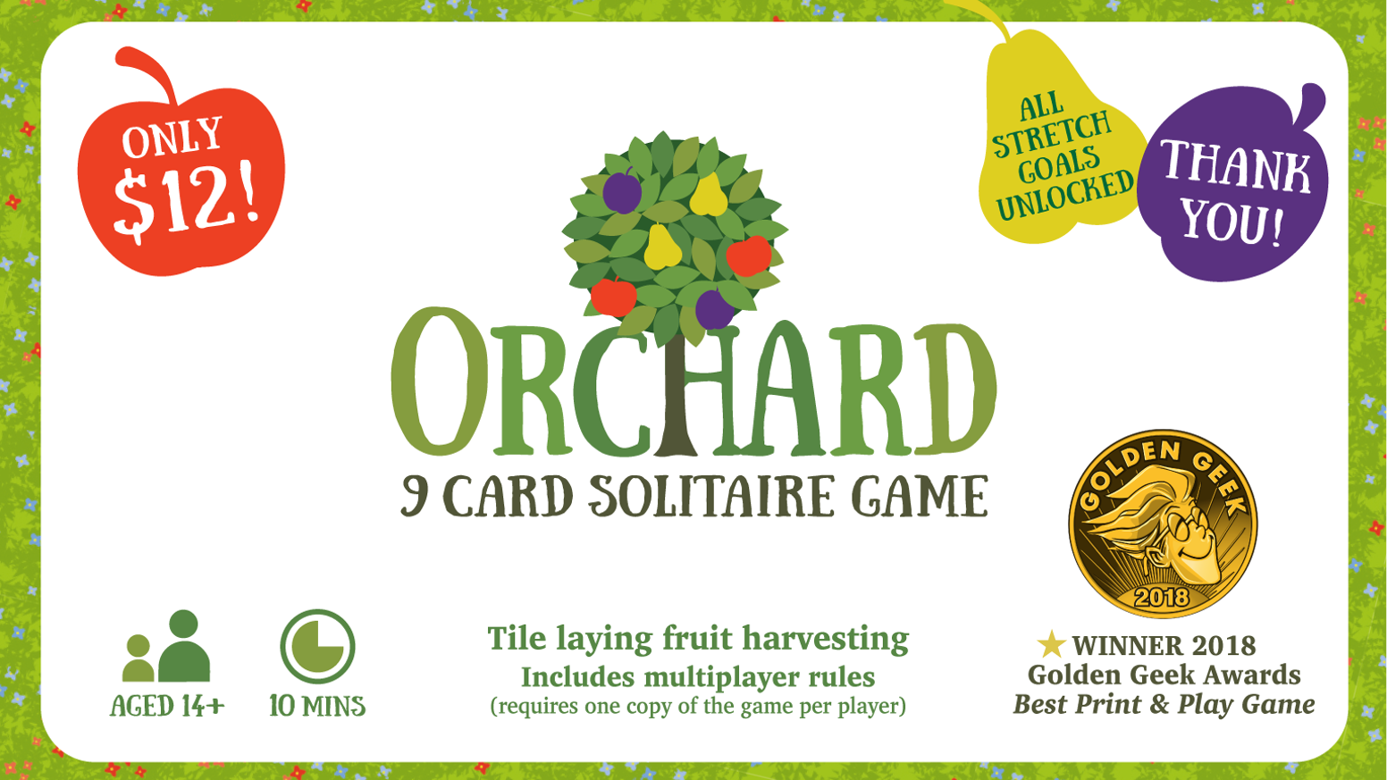 A small box solo game of harvesting fruit