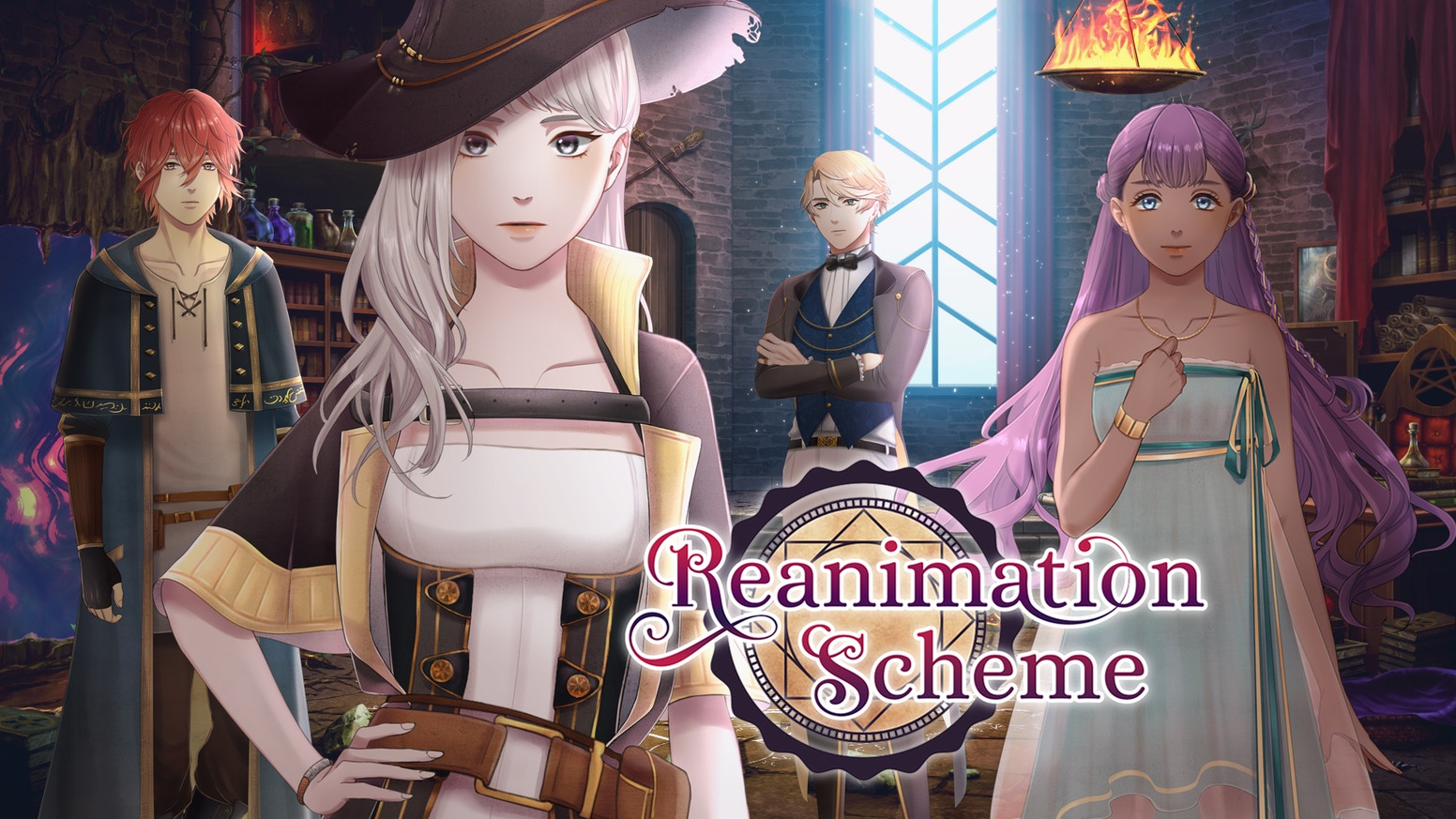 An otome visual novel. Play as a necromancer, fail to summon the spirits of the dead, unravel mysteries — and maybe fall in love!