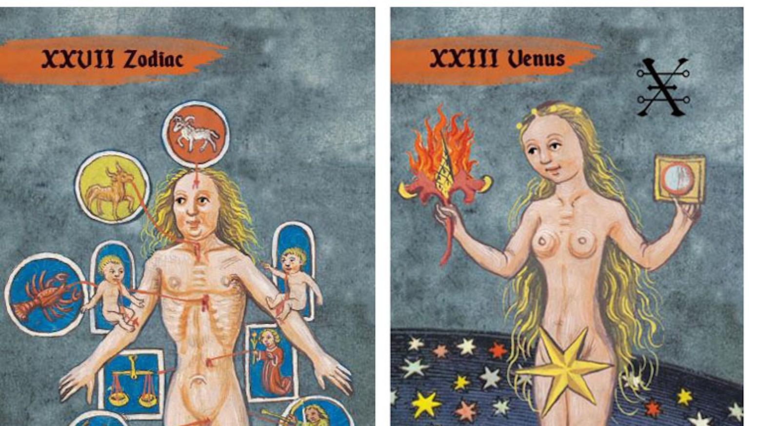 A Tarot Deck Featuring 86 Original, Beautifully Illustrated Tarot Cards Based on Renaissance Manuscripts.