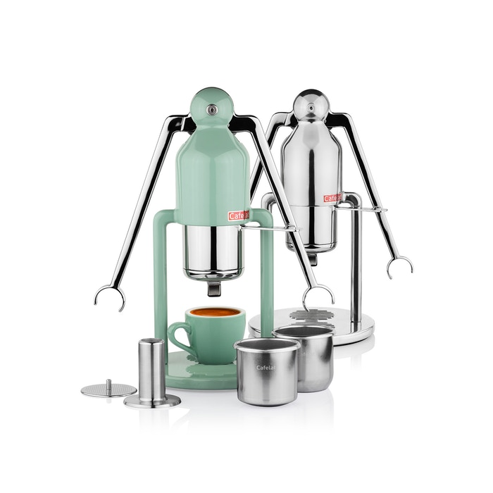 A completely manual coffee maker that is capable of making high quality, real espresso. Ditch those wasteful coffee capsules!