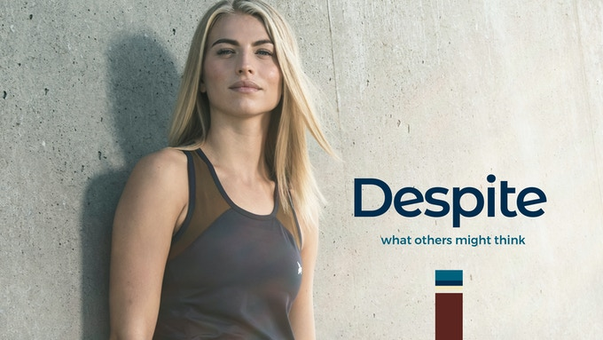 Despite. Sports apparel made from recycled plastic