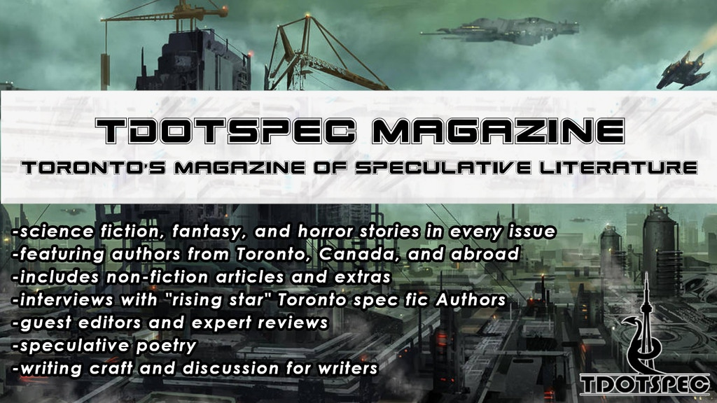 tdotSpec Magazine: Toronto's magazine of speculative fiction project video thumbnail