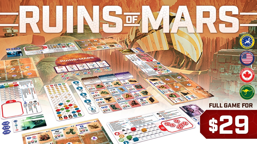 Ruins of Mars - Strategic Board Game (60-90 min, 1-4 player) project video thumbnail