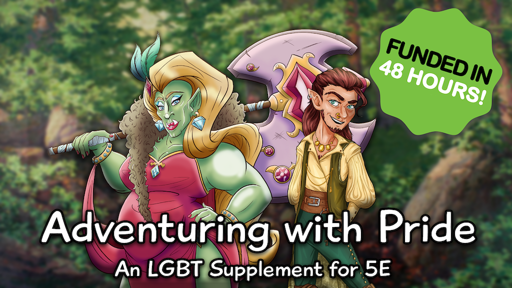 Project image for Adventuring with Pride: An LGBT 5E Supplement