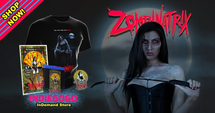 Brand SPANKING new feature-length heavy metal zombie horror movie from husband and wife filmmakers, Michael Kyne and Bianca Allaine! Pre-order ZOMBINATRIX and buy merchandise NOW through our InDemand store! Follow the link below!