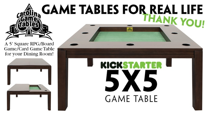 A 5 foot Square RPG /Board Game /Card Game Table for your Dining Room!