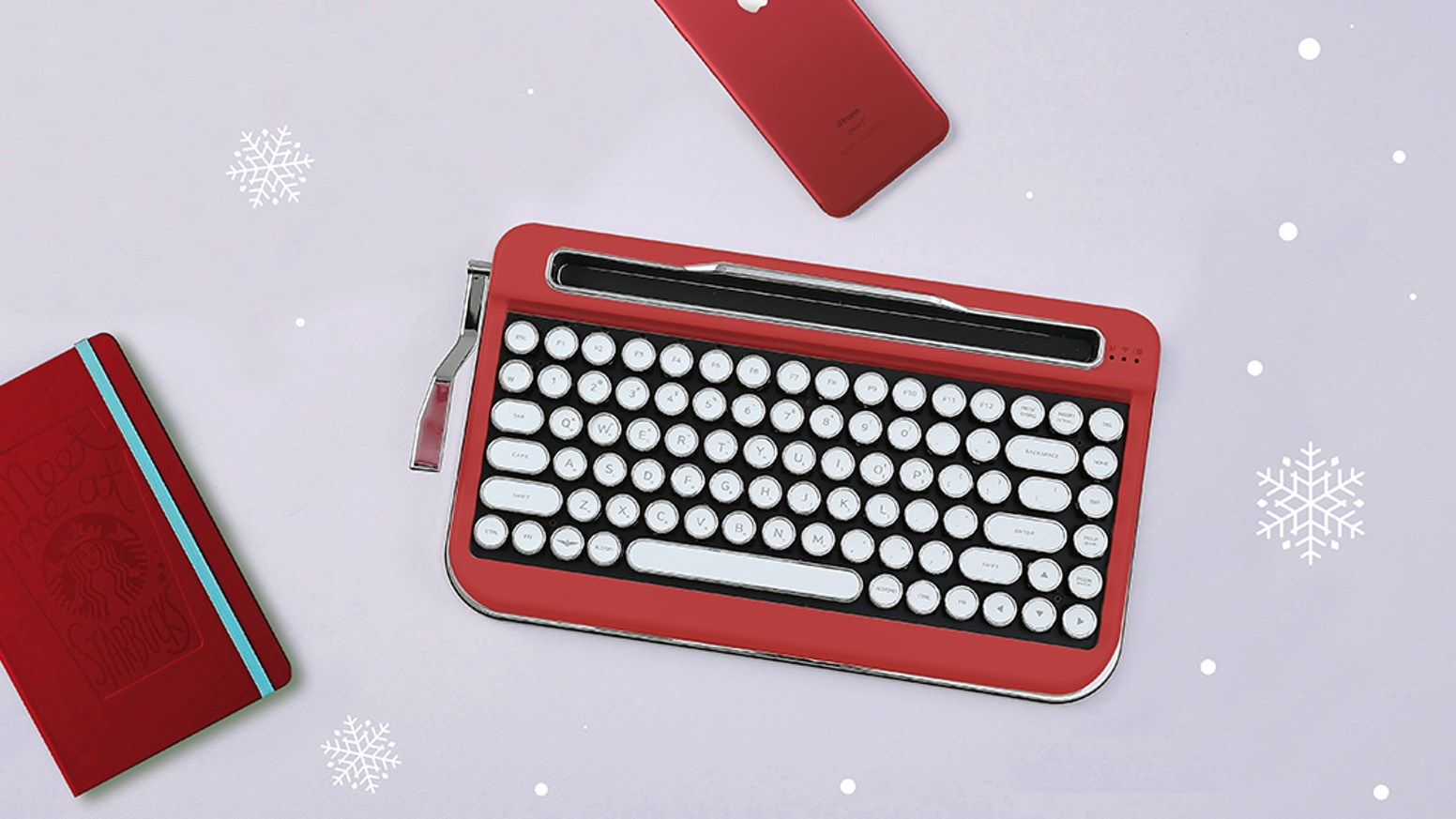 Experience the NEWTRO which utilises typewriter design to create a retro feeling.