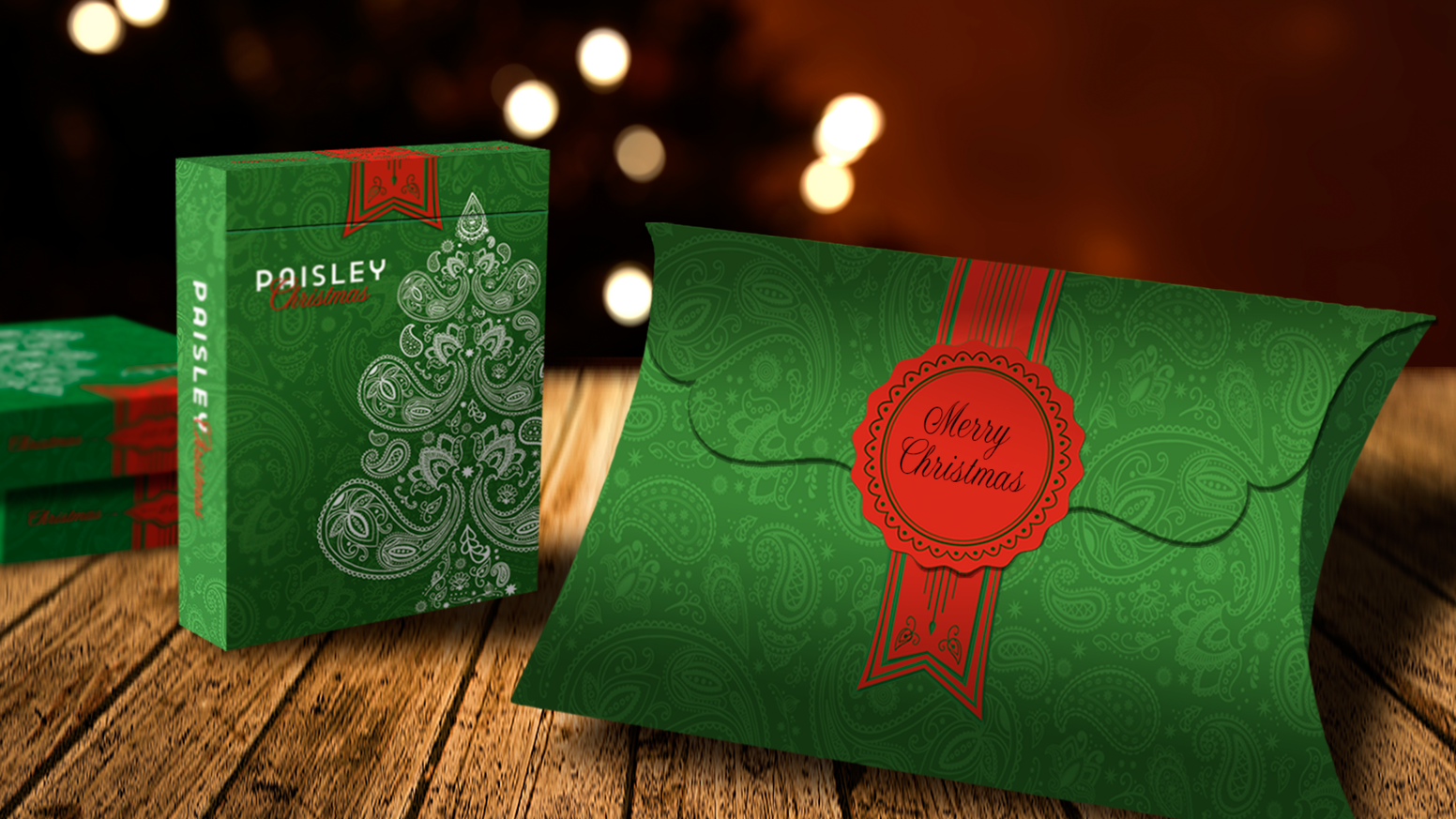 Metallic Green Paisley Playing Cards with exclusive giftbox - ONLY 15 DAYS!