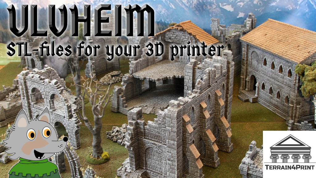 Ulvheim - STL-files for a stone city project video thumbnail