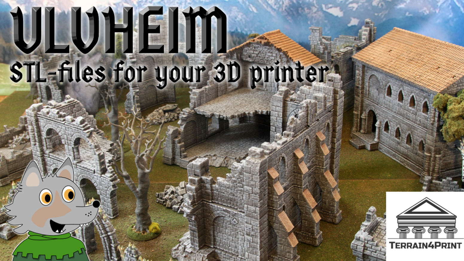 This project aims to expand the Ulvheim ruin into a full-featured ruin city for your home 3D printer.