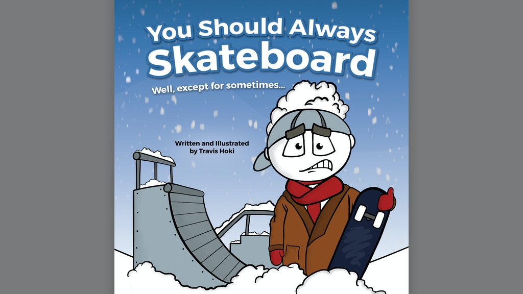 Illustrated children's book about skateboarding project video thumbnail
