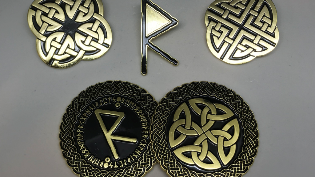 Celtic Knot Pins and Norse Rune Coins project video thumbnail