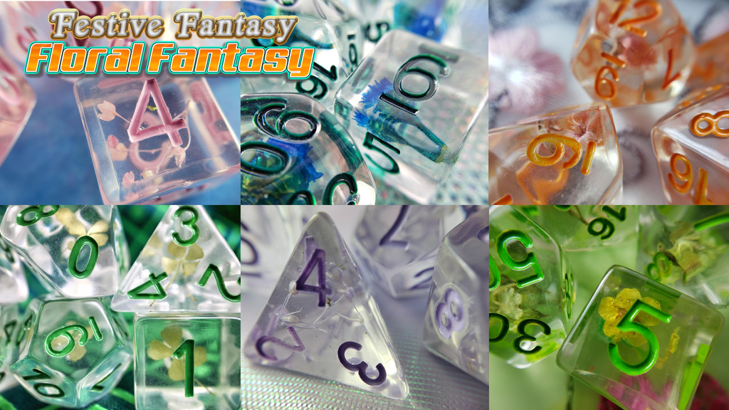 Floral Fantasy ● RPG Dice Sets project video thumbnail