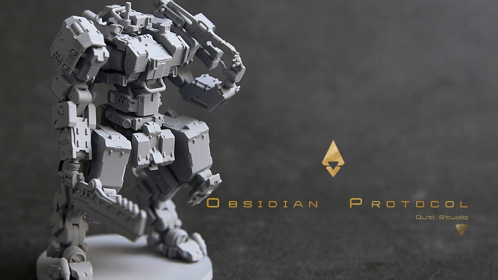 Obsidian Protocol: Mecha Miniature Wargame project video thumbnail