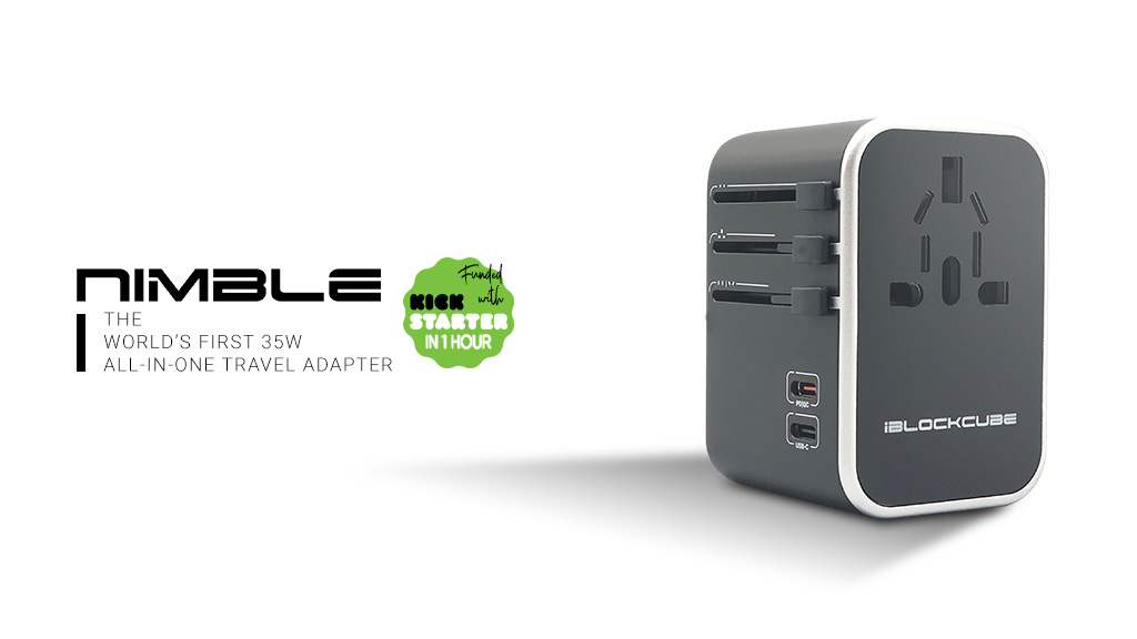 Nimble: The World's First 35W Dual Type - C Travel Adapter project video thumbnail