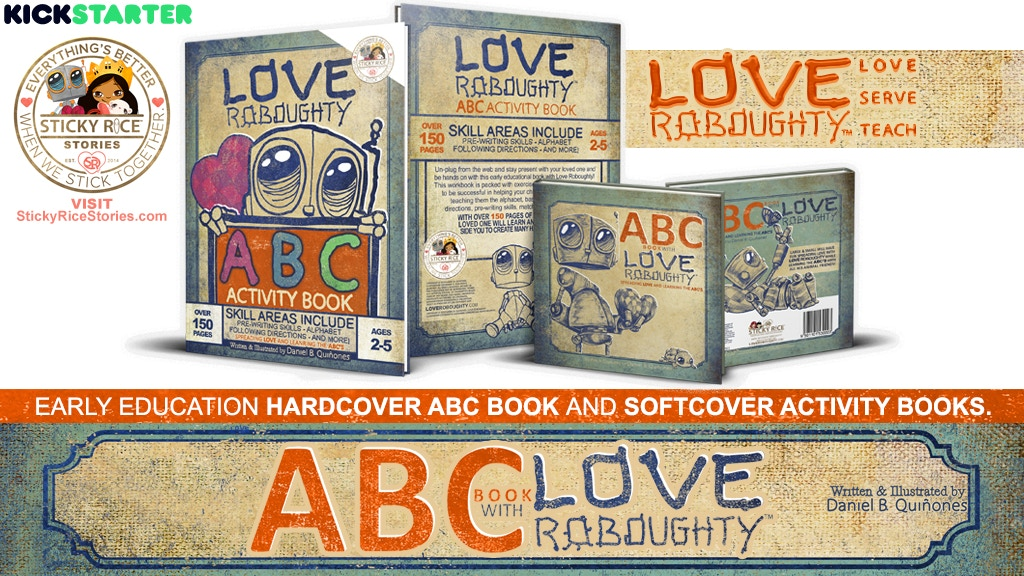 Love Roboughty early education ABC and activity books. project video thumbnail
