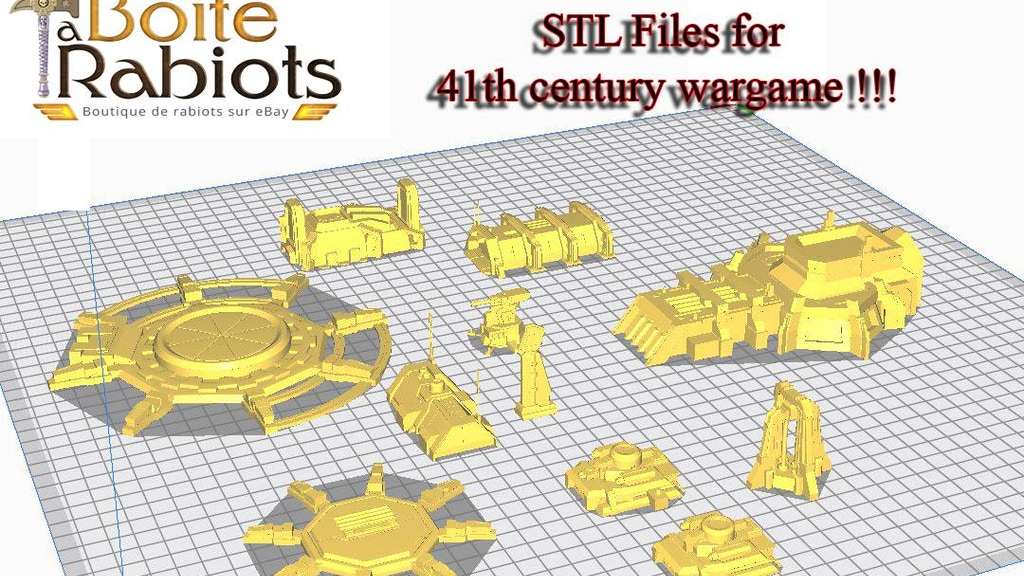 Project image for 41th century wargame building STL 3D printable files