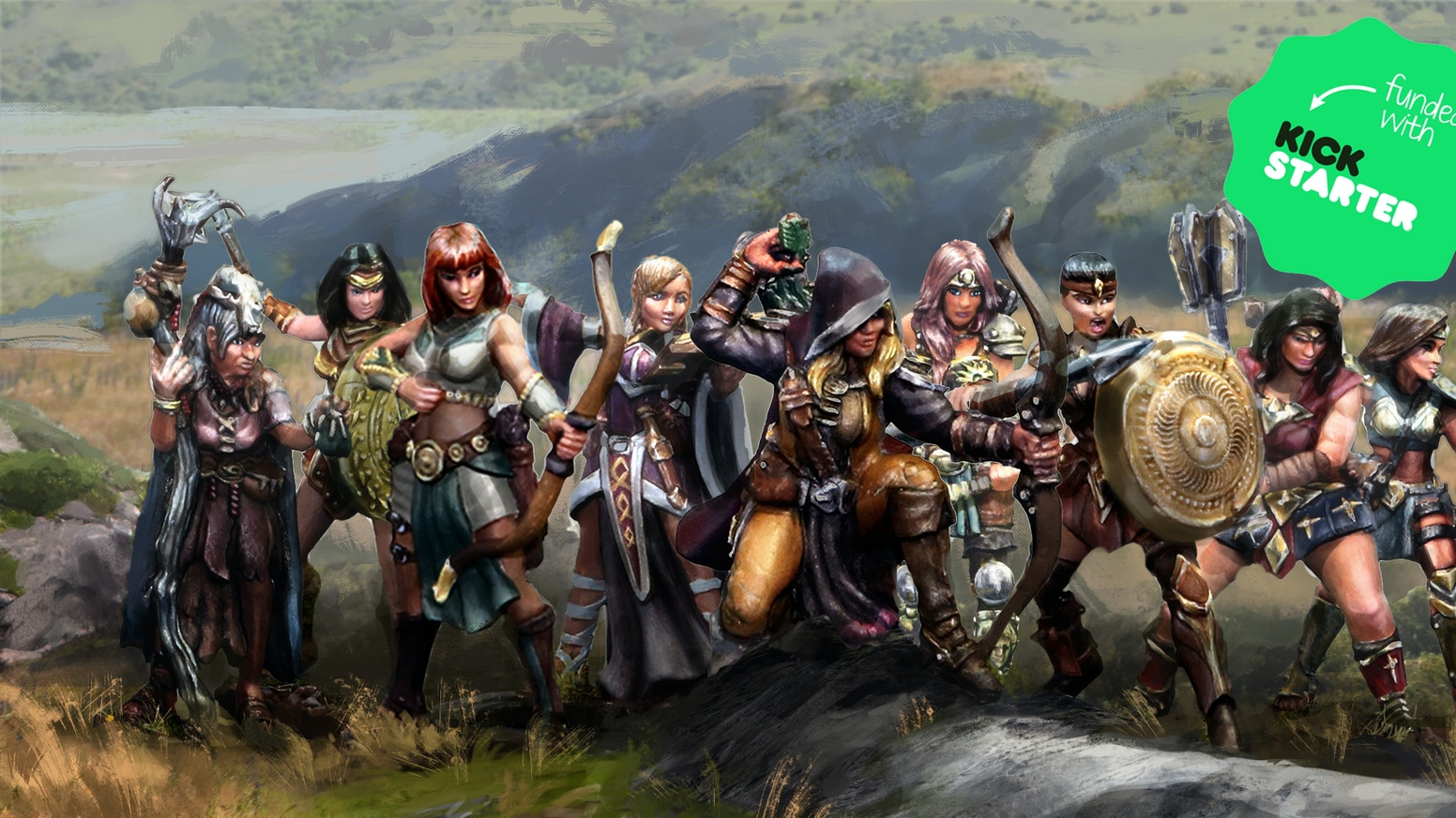 28-mm Fantasy/DnD Female Amazons of Attlemont. If your late to the party and you want our miniatures, you still have time! Pre-Order these miniature NOW! Copy and past the link: https://28-mm-fantasy-female-amazons.backerkit.com/hosted_preorders