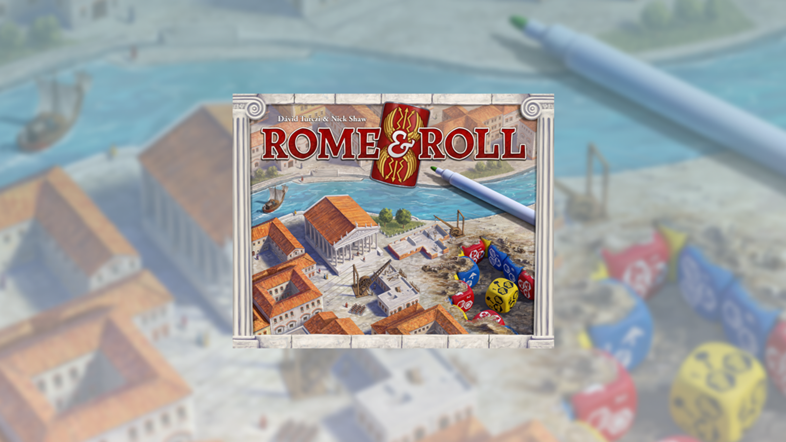 Roll, draw, and conquer! Build Rome and raise legions in this strategic roll and write from designers Dávid Turczi and Nick Shaw.