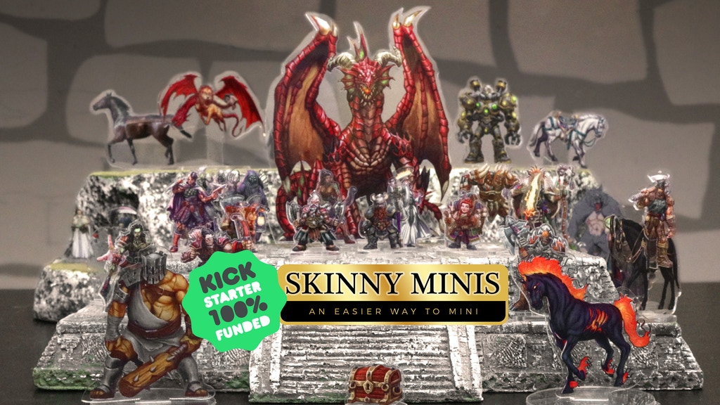Skinny Minis: A new type of miniature for tabletop RPGs project video thumbnail