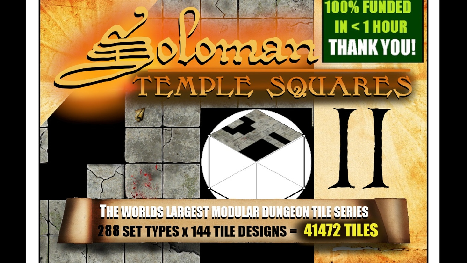 Modular Digital Dungeon Tiles on an Epic Scale. 288 Sets x 144 Tiles to map your Tabletop RPG or VTT adventures.