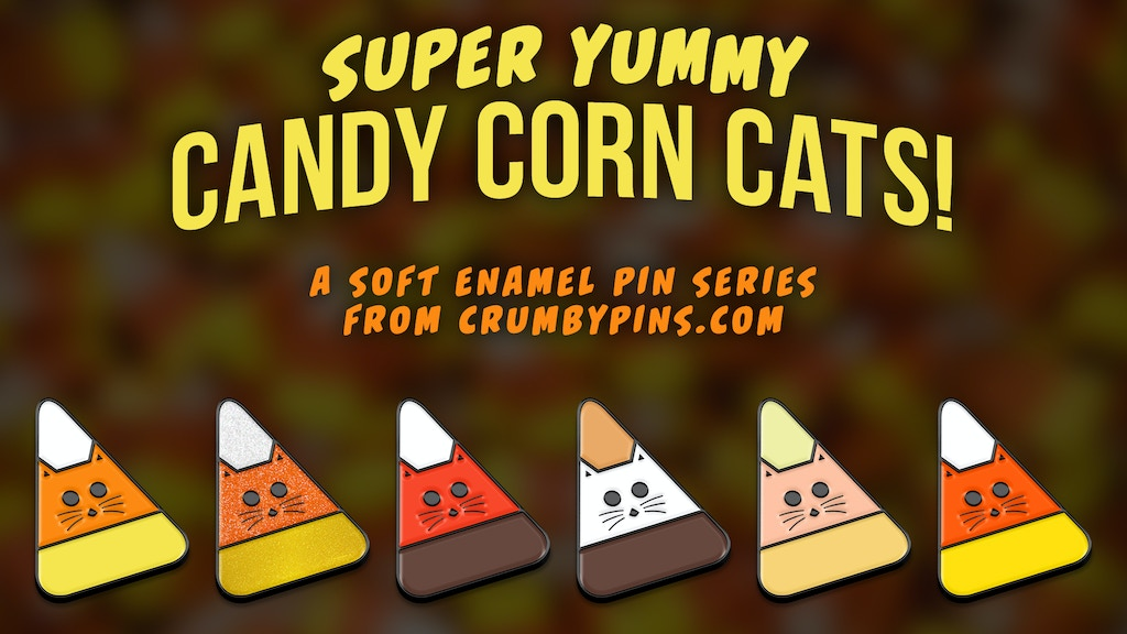 Project image for Candy Corn Cat Soft Enamel Pins