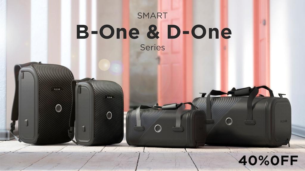 指紋認証だけじゃない、顔認証やモールス信号で瞬時に解錠できるバックパック&ダッフルバッグ「B-One & D-One」