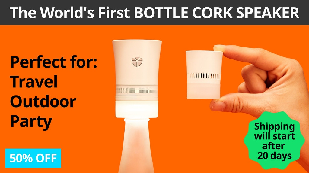 Cork 2 Bluetooth Speaker:Transform Any Bottle Into A Speaker project video thumbnail