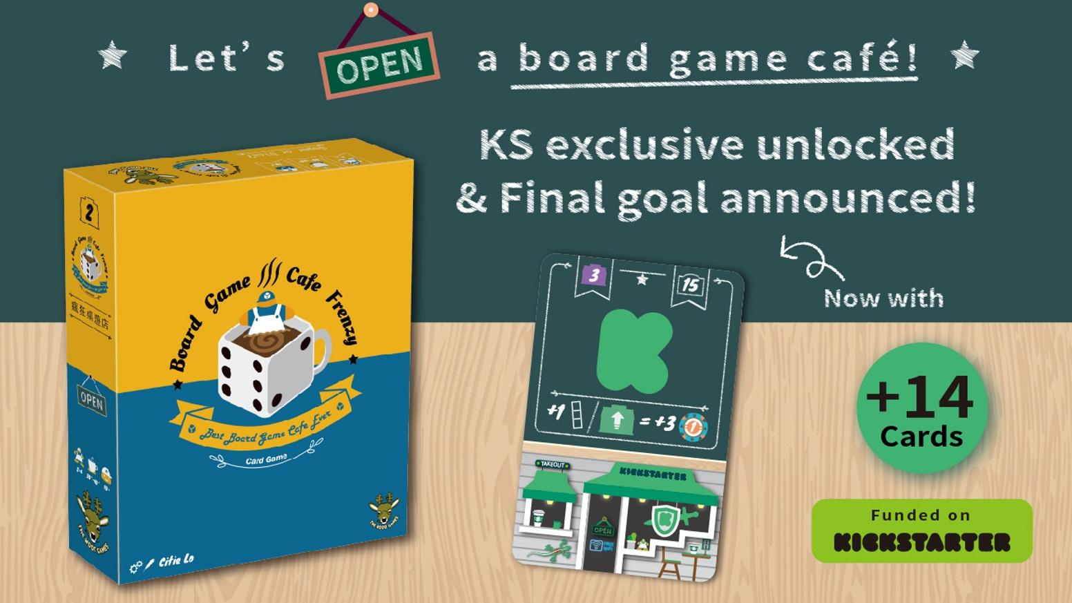 Create a board game café on your table! More than just a trick-taking, it's a tactical card game with numerous elements and mechanics!