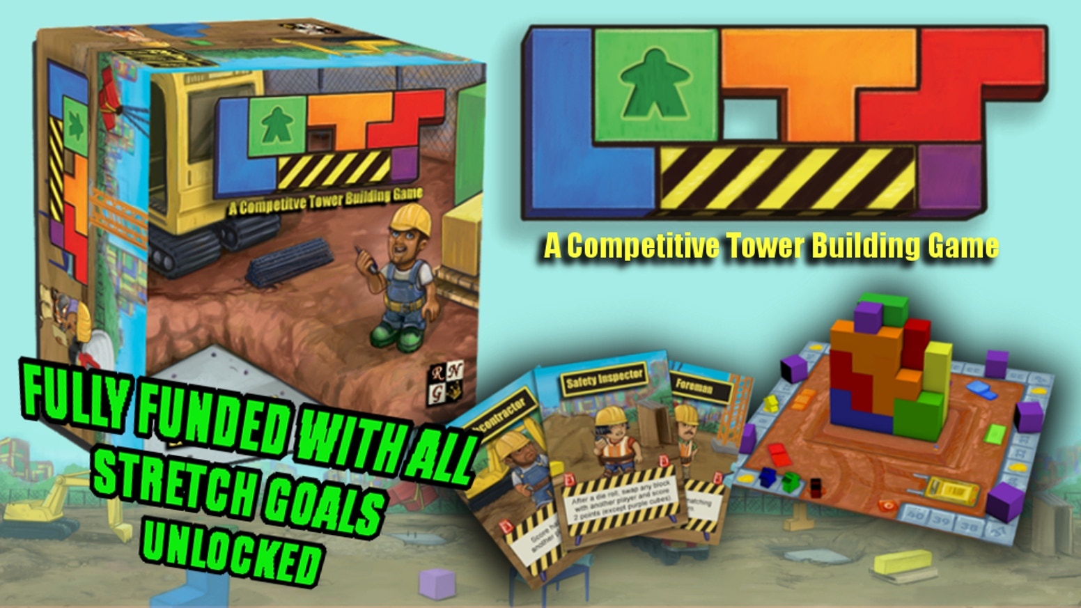 A three-dimensional puzzle game for 1 to 4 builders.