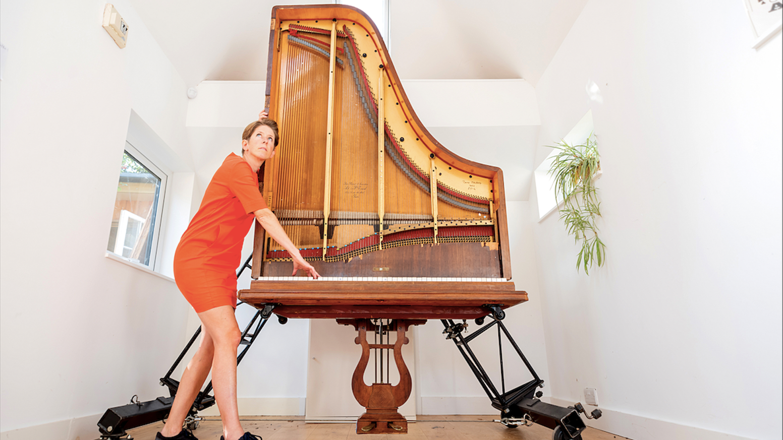 The sound of a grand piano in the space of an upright. Your piano can now go with you, anywhere, anytime.