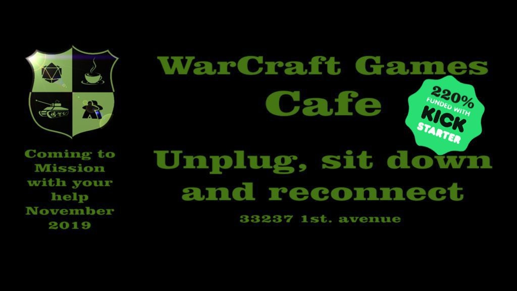 Warcraft Games Cafe: Unplug, sit down and reconnect. project video thumbnail