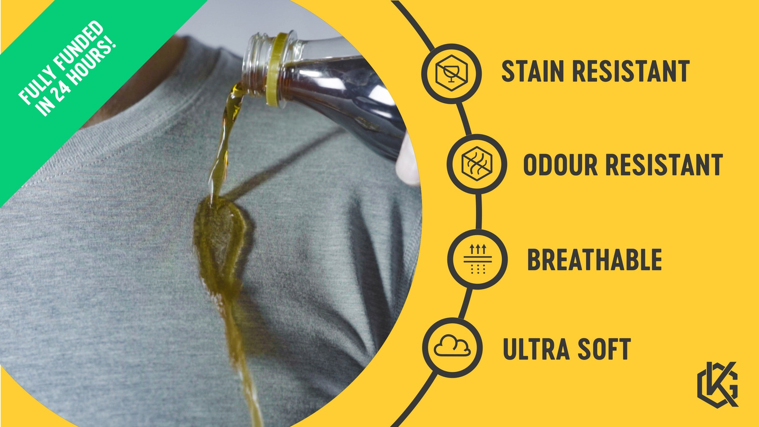 High-performance technical shirt/socks with simple style & real innovations (like odour and stain resistance) for everyday versatility.