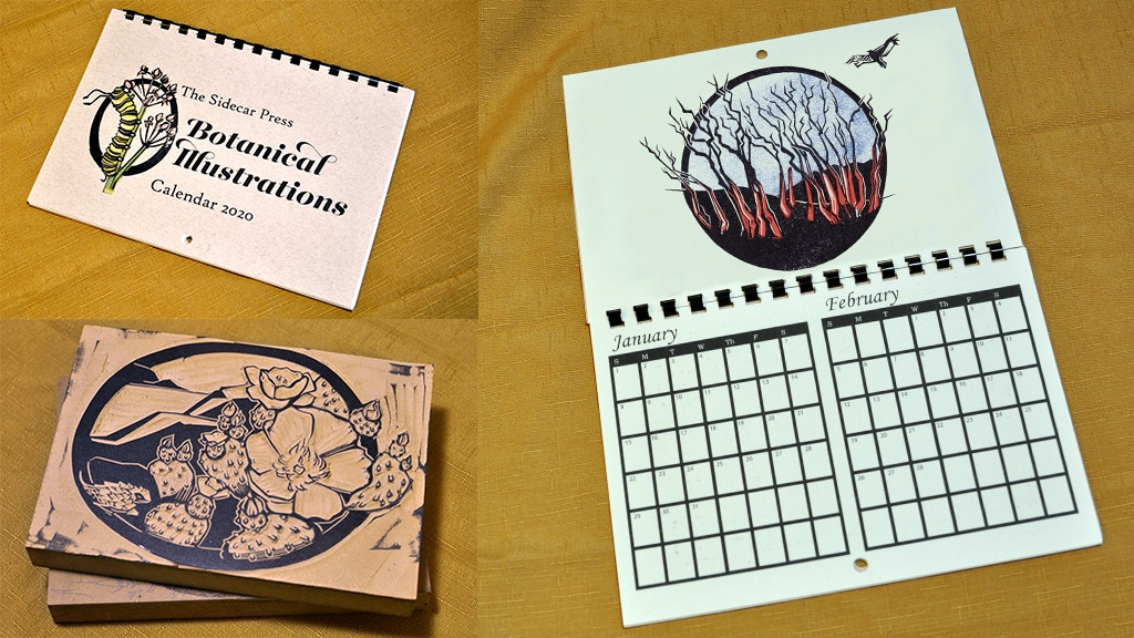 Sidecar Press Calendar 2020: Botanical Illustrations project video thumbnail