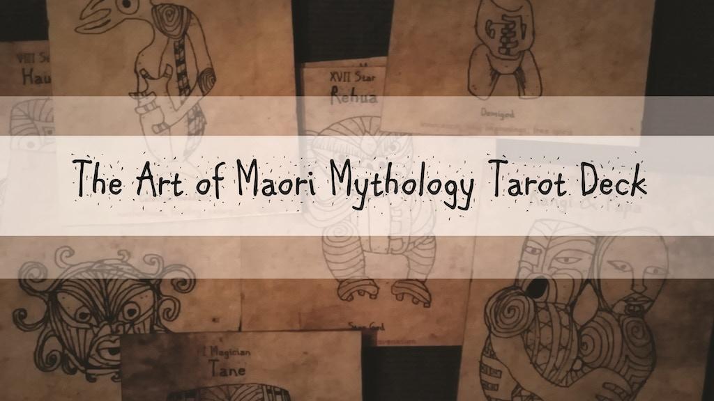 Art from a Maori Mythology Tarot from New Zealand