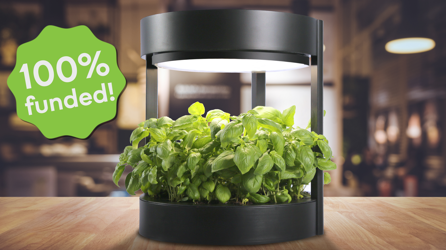 Grow up to 76 plants in a modular fully automatic gardening system created from environment friendly materials