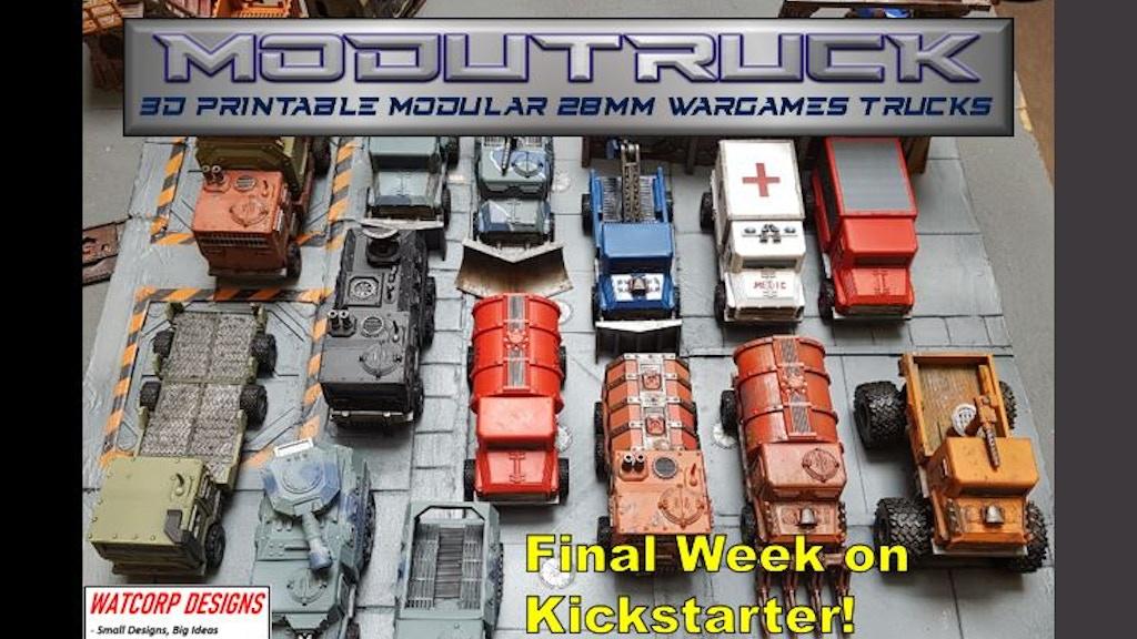 Modutruck - 3d Printable trucks project video thumbnail