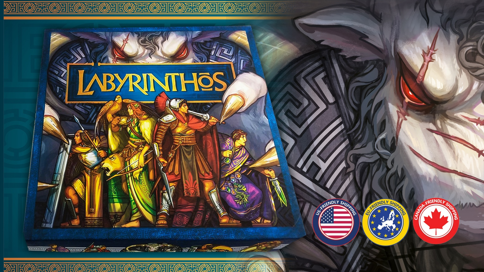 An exciting new game of twisting tiles, where the legend of the Minotaur comes alive for 2-4 players.