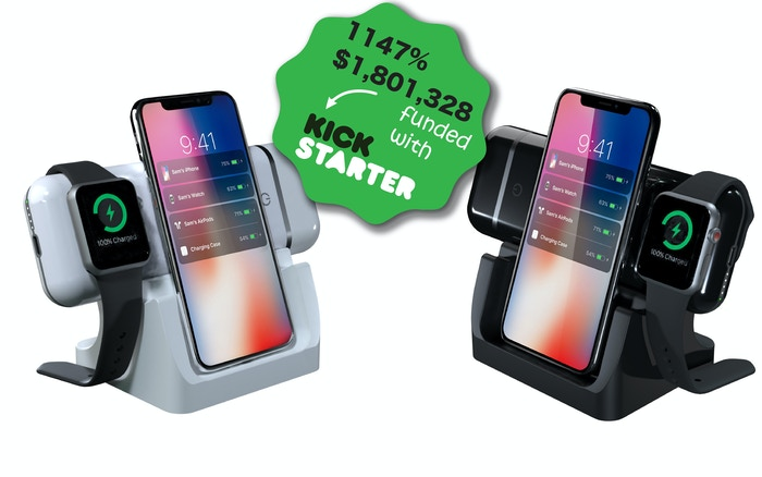 iPhone, AirPods, iPads and Apple Watch all charge in one mobile device.