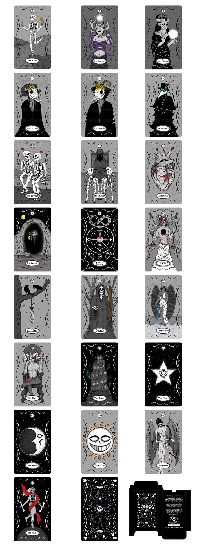 The Creepy Tarot Deck