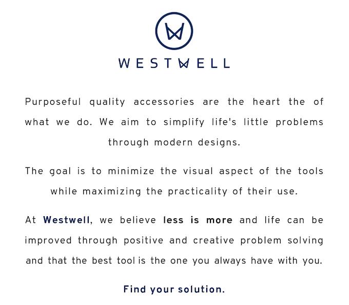 Westwell: Modern Belts, Modular Tools