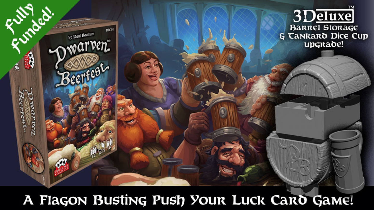 Grasp your flagon and take a drink! Dwarven Beerfest is a push your luck dice and card game!