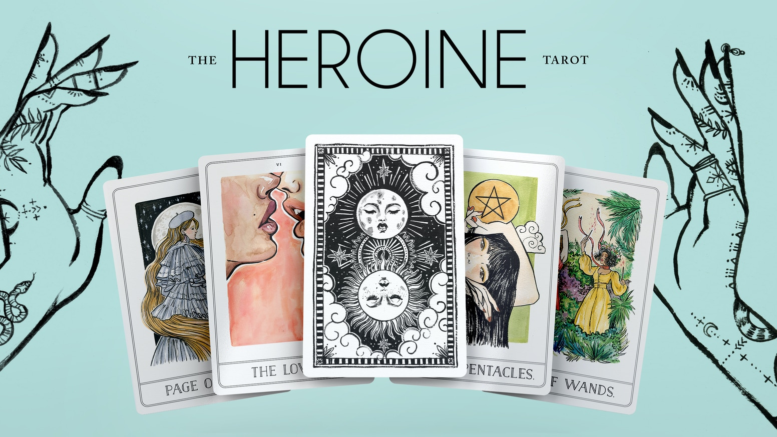 An original, hand illustrated 78 card Tarot Deck inspired by modern, feminine and fashion forward women.