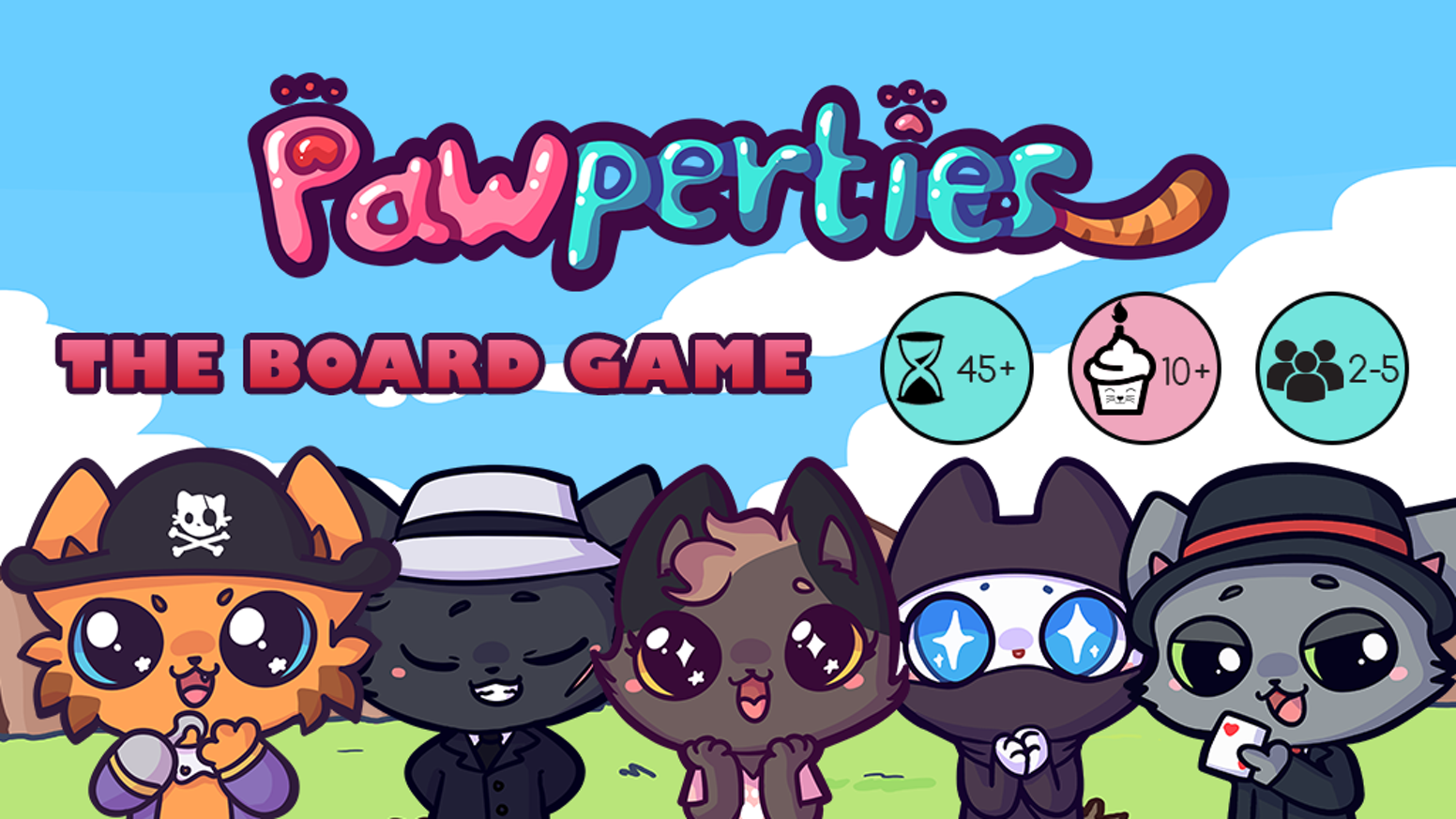 Join these unique Cats in the race for Pawperty ownership! With 5 furry Cats to ally with, no game will be the same! Missed the Kickstarter? Back us on Backer-Kit https://pawperties.backerkit.com/hosted_preorders