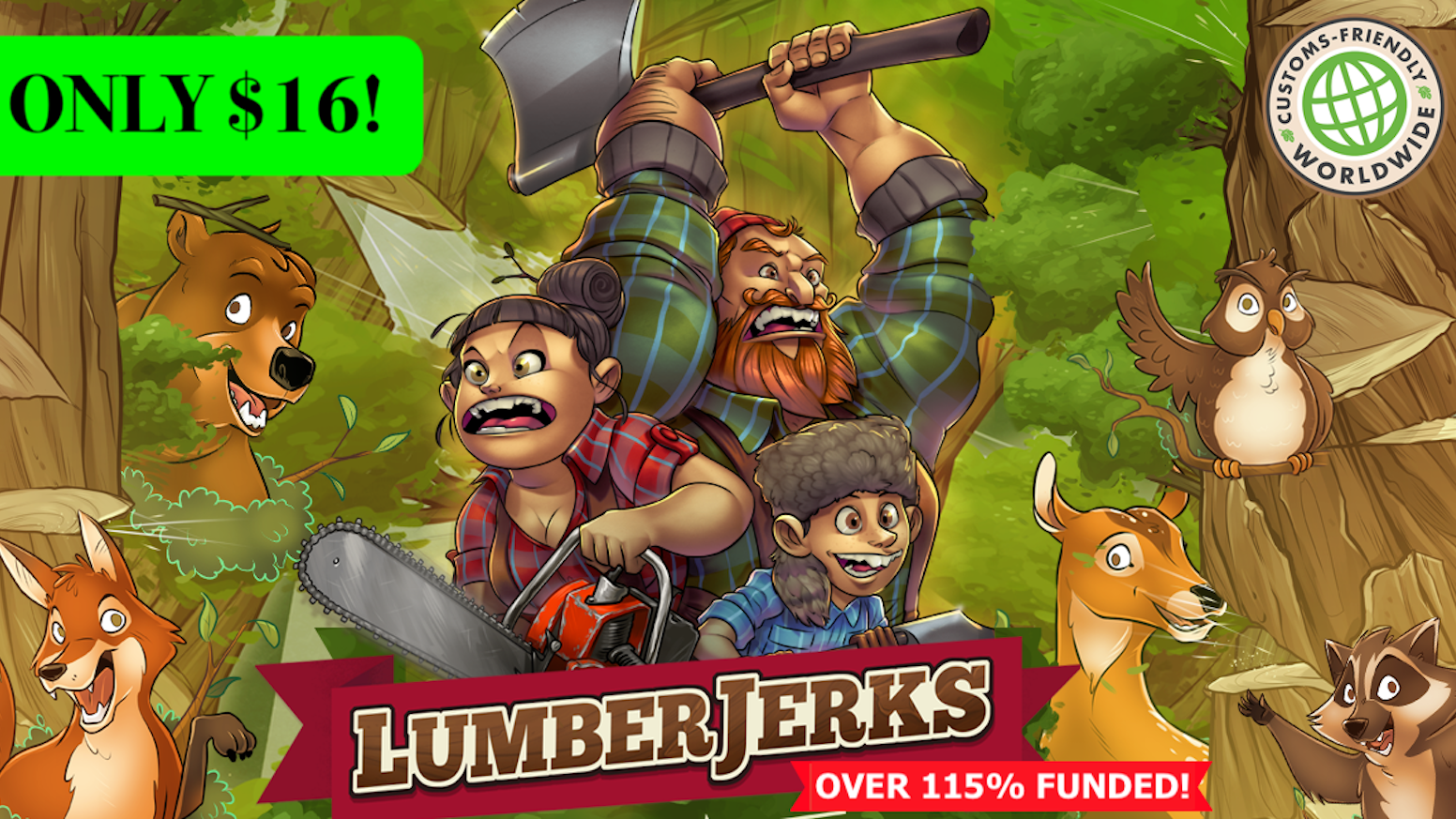 A fast-paced, take-that, lumberjack card game for 1-5 players. Chop block your friends and yell timber!