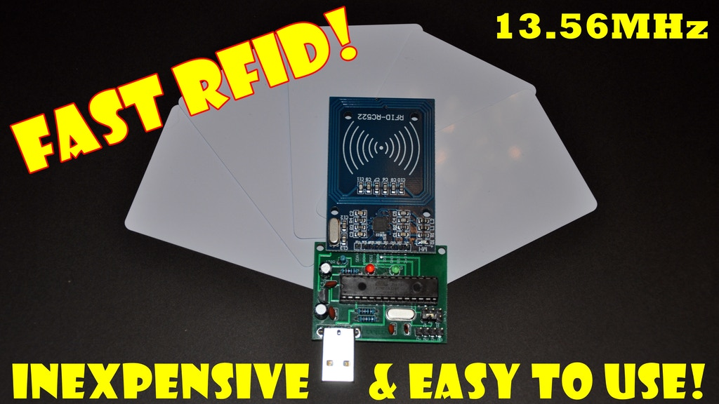 FAST RFID - Read RFID cards quickly and for next to nothing! project video thumbnail
