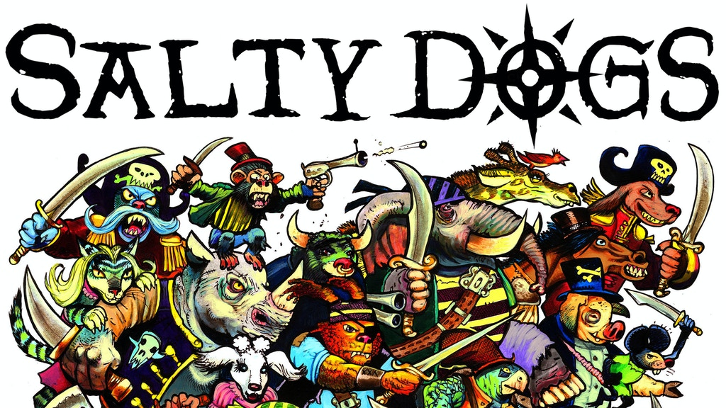 Salty Dogs - The Card Game - illustrated by Simon Bisley project video thumbnail